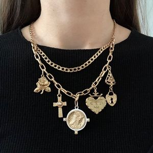 Topshop chain necklace with charms